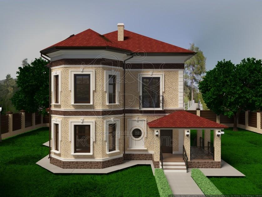 Простой проект одноэтажного дома из оцилиндрованного